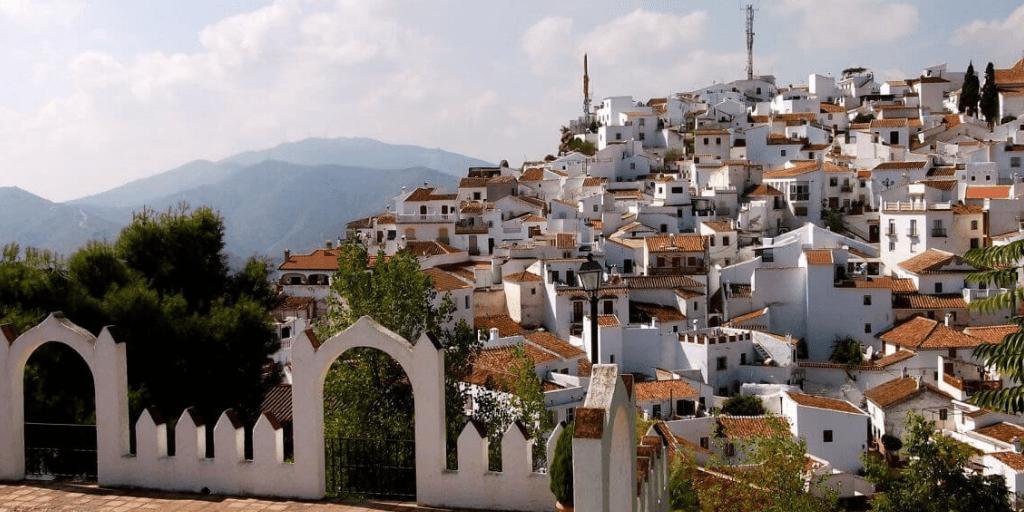 the 5 highest mountainous villages in Malaga