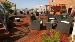 terraza hotel malaga centro